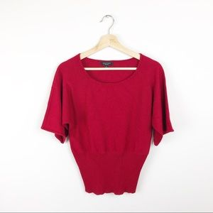 Spense Knit Red Top